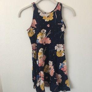 Old Navy Girls Blue Floral Dress